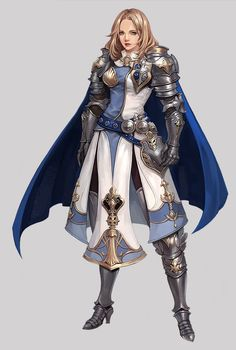 f Paladin Hvy Armor Cloak - Fantasy character design - f Paladin Hvy Armor Cloak Temple urban City lg - Fantasy Female Warrior, Female Armor, Female Knight, Fantasy Armor, Fantasy Girl, Dungeons And Dragons Characters, Fantasy Characters, Female Characters, Fantasy Character Design