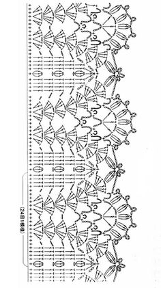Crochet Border Patterns, Crochet Collar Pattern, Crochet Boarders, Crochet Shirt, Knit Or Crochet, Filet Crochet, Easy Crochet, Knitting Patterns, Motif Bikini Crochet