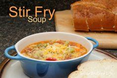Stir Fry Soup - uses frozen veggies