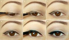 Easy Cat Eyeliner Tutorial for hooded eyes. I've got them and they aren't easy to put eye makeup on sometimes!