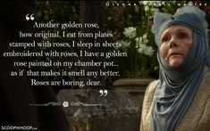 20 Quotes By Olenna Tyrell That Prove Her Words Cut Deeper Than Valyrian Steel Lady Olenna is savage. And her hats always slay. Game Of Thrones Poster, Game Of Thrones Facts, Game Of Thrones Series, Game Of Thrones Quotes, Game Of Thrones Funny, Game Of Thrones Croatia, Lady Olenna Tyrell, Aesthetic Lockscreens, A Dance With Dragons