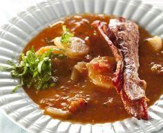 Jenny Morris's smoked paprika potato soup with crispy bacon