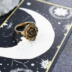 @InchooBijoux posted to Instagram: For the hopeless romantics out there, this Gold Rose Ring is what was missing for your aesthetic to be perfect! 🌹 Pic by @marisaparisella #inchoobijoux #witch #witchcraft #occult #witchesofinstagram #goldjewelry #handmadejewelry #madeinmontreal #witchlife #witchery #etsyjewelry #witchy #goth #gothfashion #alternativefashion #oddities #witchyjewelry #bohojewelry #bohojewelry #gothicfashion #altfashion #gypsyjewelry #etsymontreal #freya #rosegarden #fl Bijoux Or Rose, Perfect Pic, What Is Miss, Gypsy Jewelry, Nature Inspired, Alternative Fashion, Occult, Gothic Fashion, Witchcraft