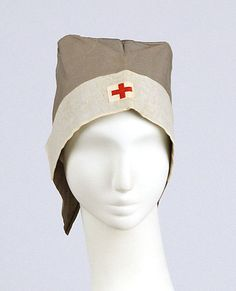 Medical Uniform Bonnet, circa 1940s.