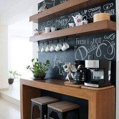 "2,287 curtidas, 30 comentários - Blog De Decoração (@eutambemdecoro) no Instagram: ""Cantinho do café! 😍☕️☕️ Foto: Pinterest  #decorando #decoracion #decoracao #decoracaocriativa…"""