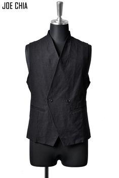 JOE CHIA RAPEL LESS VEST Jacket Style, Suit Jacket, Cyberpunk Fashion, Sharp Dressed Man, Future Fashion, All About Fashion, Osaka, Vests, Drill