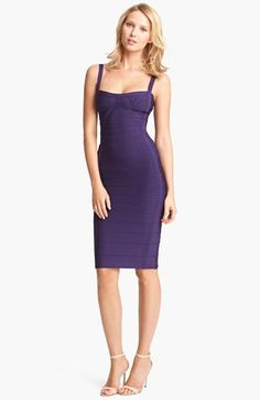 Herve Leger Spaghetti Strap Bandage Dress available at #Nordstrom