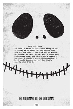 the nightmare before christmas movie poster quote more christmas ...