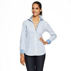 Just fell in love with the Striped Stretch Cotton Signature Fit Shirt for $78 on C. Wonder! Click on the image and receive 20% off your next full-price purchase and find something you love too!
