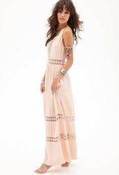 Crocheted Maxi Dress #F21StatementPiece