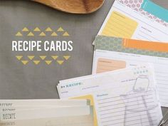 50 Recipe Cards - Mix and Match