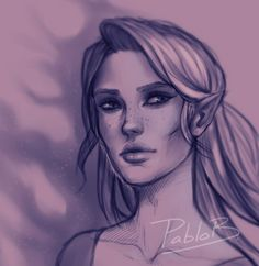 "pablob-: "" Cropped version of a sketchy little Feyre I did! (I'll try to finish it properly, colour and all) Yesterday I finished ACOMAF and ALL THE FEELS!!! What an Amazing story! I can't wait till ACOWAR! Feyre, the fox in the chicken coop! "" This..."