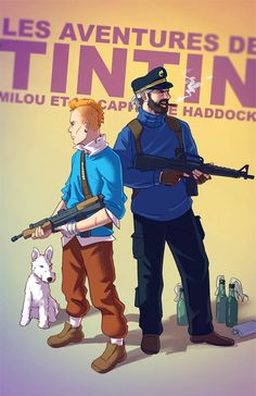 DeviantART user Tohad imagines BADASS versions of classic childhood characters. In this case: The Adventures of Tintin Childhood Characters, Iconic Characters, Video Game Characters, Cartoon Characters, Geek Culture, Pop Culture, Cartoon Cartoon, Badass, Winnie