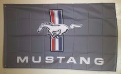 Ford Mustang Racing Flag Man Cave Garage 3X5 Wall Banner FREE SHIPPING!!! #Ford