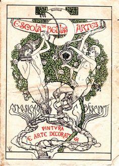 Exhibition Catalogue, 1901 by Eliseu Visconti. Art Nouveau (Modern). design