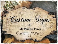 CUSTOM Chippy Vintage Signs-Custom. I just found me some Christmas presents. Finally!!