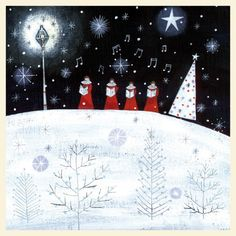 Choristers Card by Lucy Grossmith from The Night Before Christmas Range by Museums & Galleries