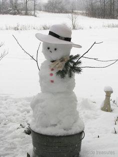 Wayside Treasures...snow lady