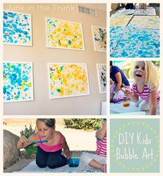 DIY KIDS BUBBLE ART {Junk in the Trunk Vintage Market}
