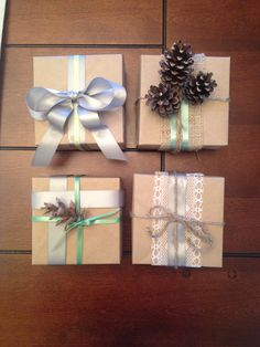 Rustic wrapping ideas with homemade boxes