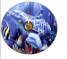 CD Clock Marine Scene Can Personalize Send Pic  Great Gift
