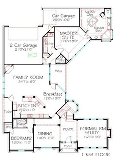Beach style house plan 4 beds baths 3000 sq ft plan for Rear entry garage house plans
