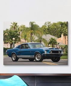 Loving this 1968 Shelby Gt 500 Kr Fastback Artist Canvas Print on #zulily! #zulilyfinds