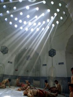Men relax in the heat of a Turkish bath in Istanbul, Turkey | Photograph by Winfield Parks, National Geographic