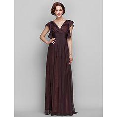 Sheath/Column V-neck Floor-length Chiffon Mother of the Bride Dress (722124) – USD $ 148.49
