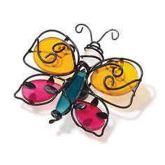 Magnet-Haken Gartenfreunde, Trio aus Metall und Glas, je 1x Libelle, Marienkäfer, Schmetterling Zu verwenden als dekor an einem Duftwachsglas oder als Magnetschmuck auf Metall  https://annegretstein.partylite.de/Shop/Product/2154