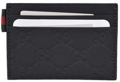 NEW Gucci Men's 322190 Black Neoprene Red Green Web GG Guccissima Card Case #Gucci #CardCase