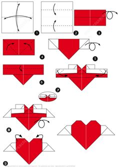 How to Make an Origami Heart with Wings Paper craft