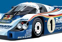 Porsche 956 poster