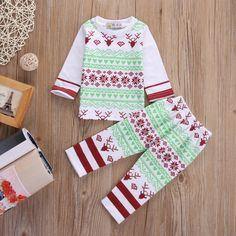 >> Click to Buy << Newborn Baby Boys Girls Christmas Clothes Home Pajamas Nightwear Sleepwear 0-24M #Affiliate