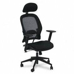 Office Star Products 55403 Executive High-Back Chair, 27-1/2 in.x28-1/2 in.x56-1/4 in., Black by Office Star. $241.23. Soft polyurethane padded arms for enhanced comfort.. Breathable AirGrid mesh offers strong support for seated tasks.. Space Air Grid Series High Back Chair with Headrest.. Contemporary styling combined with durable AirGrid mesh delivers office seating that is comfortable yet stylish.. Executive high-back chair features active lumbar support and...