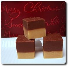 Holiday Baking Spree...Two-toned Chocolate Peanut Butter Fudge