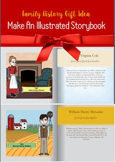 Family History gift: easily illustrate a book for kids about their ancestors online!