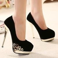 Heel Height: cm Platform Height: 5 cm Color: Black,red Size: 39 Size Note: We send CN size, if your foot is a little wide and fat, we suggest you choose 1 size larger. Size Guide: Euro/CN 34 = US 3 = (Foot Euro/CN 35 = US 4 = (Foot Euro/CN 36 = US 5 = (F Black High Heels, High Heels Stilettos, Stiletto Heels, Shoes Heels, Fancy Shoes, Cute Shoes, Lace Up Heels, Ankle Strap Heels, Ankle Straps