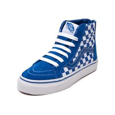 86cb6803d09 Shop for YouthTween Sk8 Hi Zip Skate Shoe in Blue White at Journeys Kidz.  Journeys