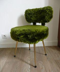 Chaise moumoute 70's