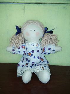 Rag angel eco-friendly doll fabric doll handmade toy by UkropMade