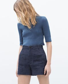 RIBBED CROPPED TOP - View all - Knitwear - WOMAN | ZARA United Kingdom