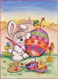 DBK Art Licensing - Original Illustrations & Photography for Greeting Cards, Gift Wrap, Napkins, Stickers, and much more. Easter Cats, Easter Hunt, Happy Easter, Christmas Greeting Cards, Christmas Greetings, Easter Paintings, Happy Birthday Card Design, Easter Coloring Pages, Easter Pictures