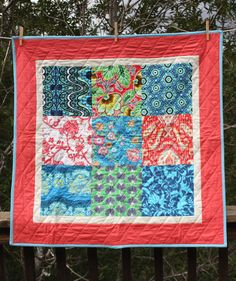 Amy Butler Baby Quilt. $69  http://www.etsy.com/listing/87082518/amy-butler-baby-quilt-matching-banner