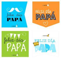 etiquetas imprimibles para el día de papá...