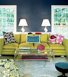 navy chartreuse lucite