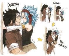 Read Fairy tail : GaLe from the story Mes Couples Manga Kawai by reine-manga (ranza) with reads. Fairy Tail Levy, Fairy Tail Ships, Fairy Tail Amour, Fairy Tail Funny, Fairy Tail Guild, Anime Fairy, Gajeel Und Levy, Fairy Tail Comics, Anime Couples