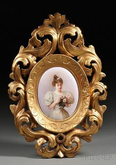 KPM Hand-painted Porcelain Plaque, Germany, 19th century, ov