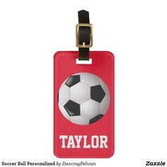 Soccer Ball Personalized Luggage Tag Personalized Luggage Tags b29d69f9f144