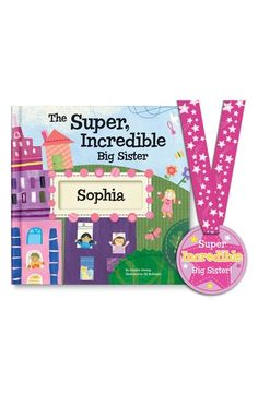 'The Super, Incredible Big Sister' Personalized Hardcover Book & Medal available at #Nordstrom